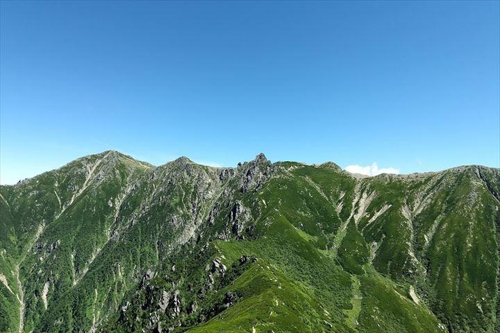 宝剣岳(三ノ沢岳から)