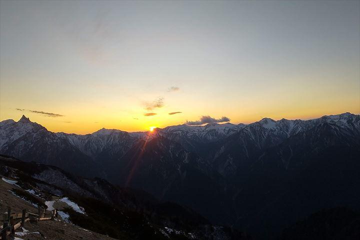 燕山荘からの日没